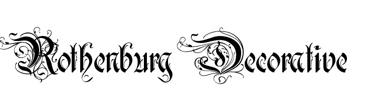 Rothenburg Decorative  Free Fonts Download