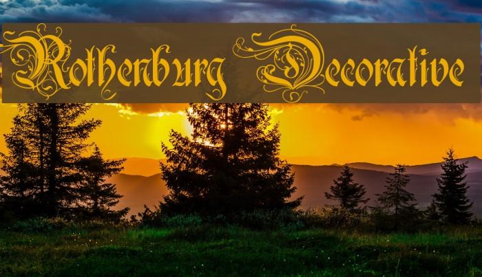 Rothenburg Decorative फ़ॉन्ट examples