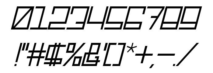 Rotterdamz-Italic Font OTHER CHARS