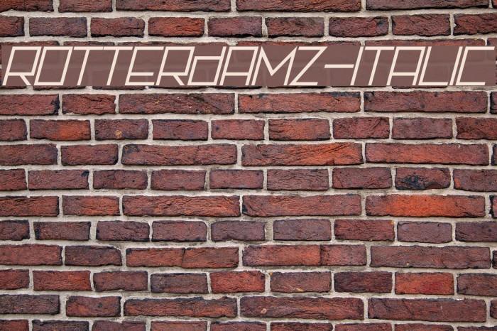 Rotterdamz-Italic フォント examples