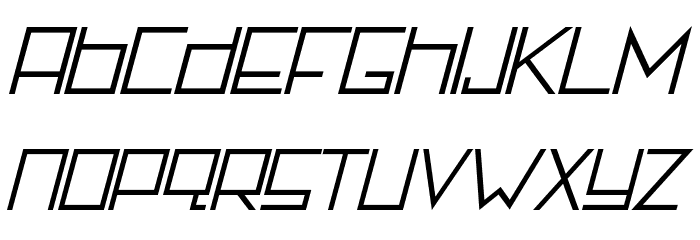 Rotterdamz-Italic フォント 小文字