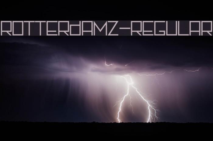 Rotterdamz-Regular フォント examples