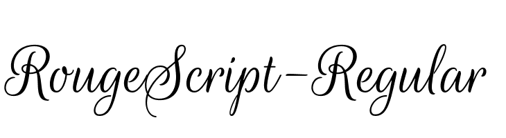 RougeScript-Regular  Free Fonts Download