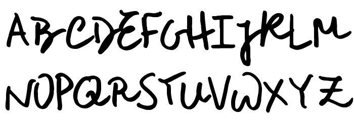 Rough Notes Sample Font UPPERCASE