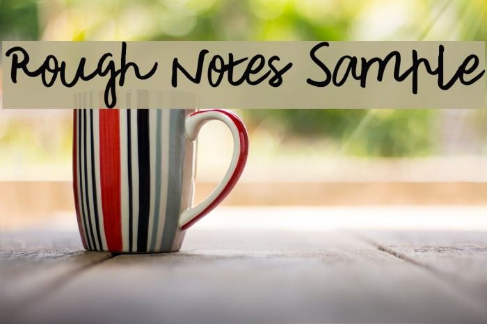 Rough Notes Sample Font examples