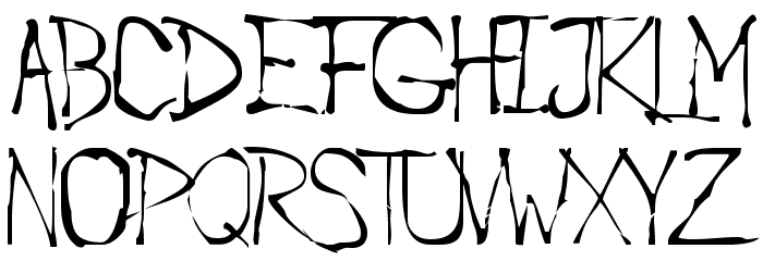 Roughedge Font UPPERCASE