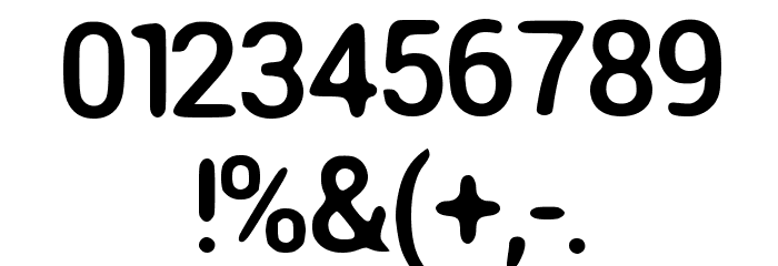 Round Corner Font Regular Font Alte caractere