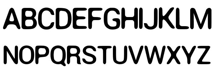 Round Corner Font Regular Font Litere mari