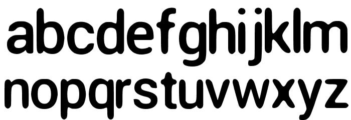 Round Corner Font Regular Font Litere mici