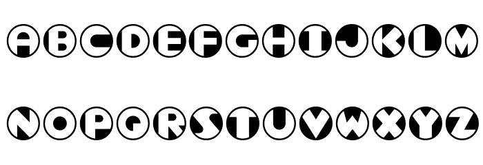 Roundel Font Litere mari