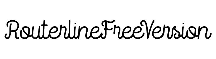 RouterlineFreeVersion  Скачать бесплатные шрифты
