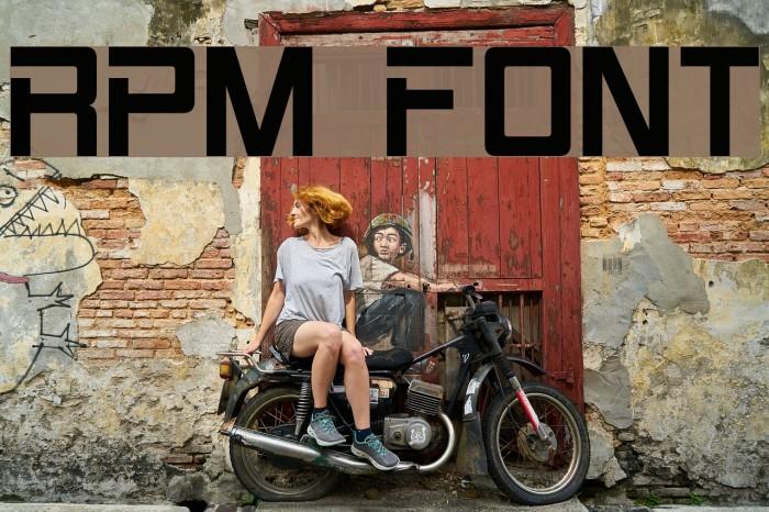 RPM Font examples
