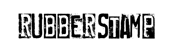 RUBBERSTAMP  Free Fonts Download