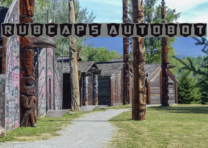 RubCaps Autobot Font examples