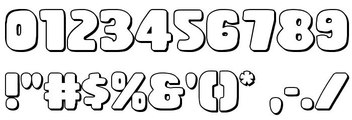 Rubber Boy 3D Regular Font Alte caractere