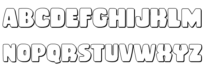 Rubber Boy 3D Regular Font Litere mari