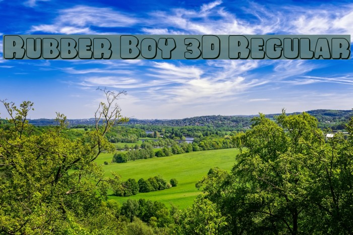 Rubber Boy 3D Regular Font examples