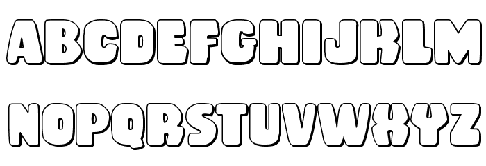 Rubber Boy 3D Regular Font Litere mici