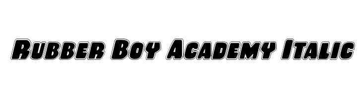 Rubber Boy Academy Italic  Descarca Fonturi Gratis