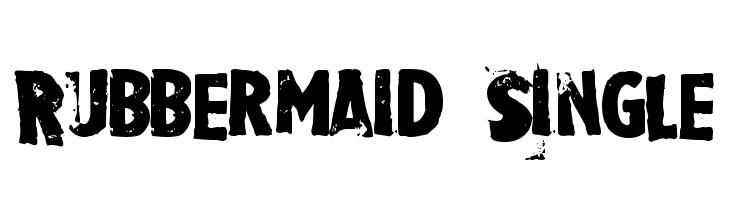 Rubbermaid Single  baixar fontes gratis
