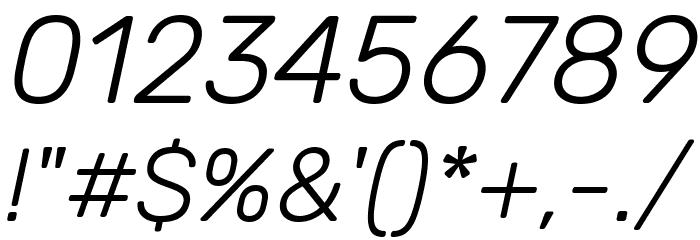 Rubik Light Italic Font - free fonts download