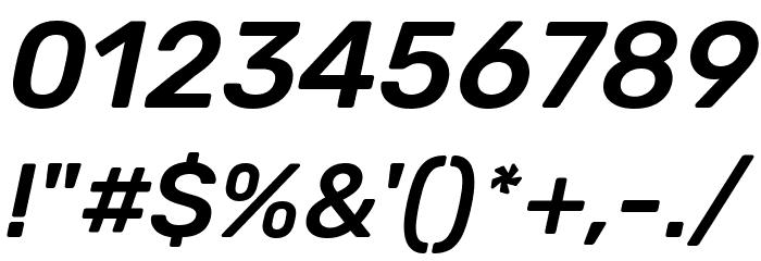Rubik Medium Italic Font OTHER CHARS