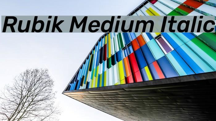 Rubik Medium Italic Font examples