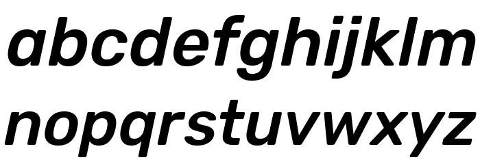 Rubik Medium Italic Font LOWERCASE