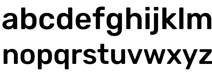 Rubik Medium Font LOWERCASE