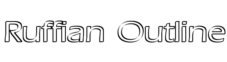 Ruffian Outline  Free Fonts Download