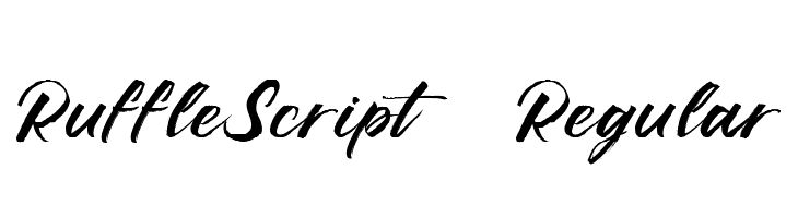 Ruffle Script DEMO Regular Polices