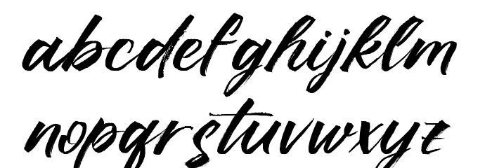Ruffle Script DEMO Regular Polices MINUSCULES