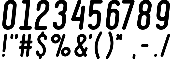 Ruler Bold Italic Font OTHER CHARS