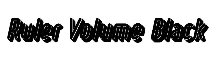 Ruler Volume Black  Descarca Fonturi Gratis
