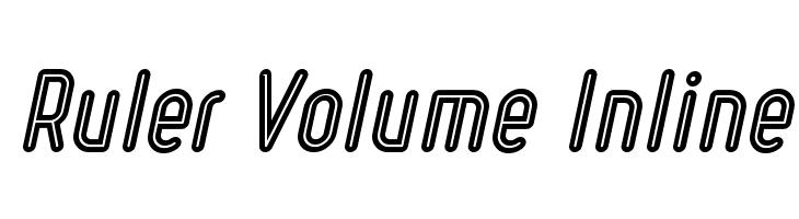 Ruler Volume Inline  Descarca Fonturi Gratis