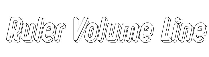 Ruler Volume Line  Free Fonts Download
