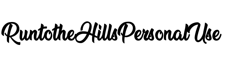 Run to the Hills Personal Use  Font