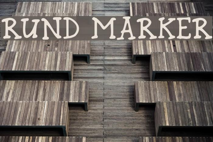 Rund Marker Font examples