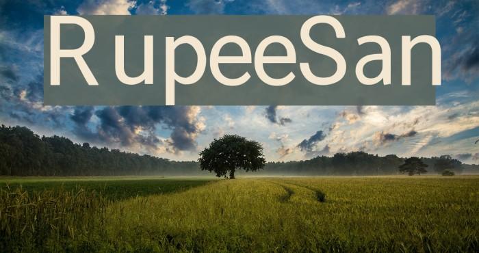 RupeeSan Font examples