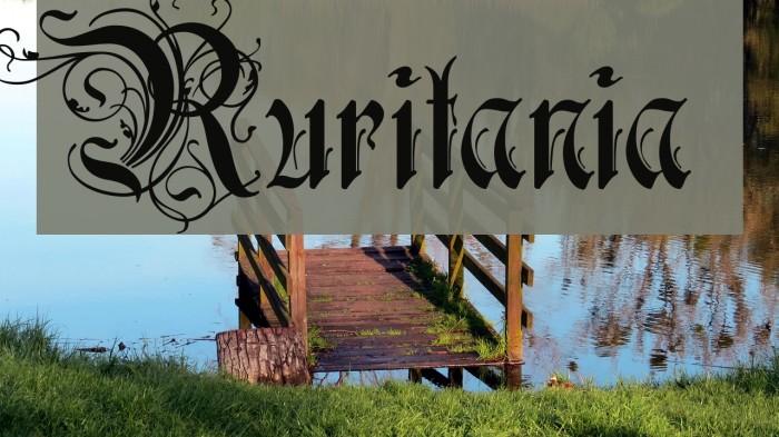 Ruritania फ़ॉन्ट examples