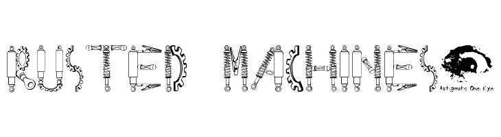 Rusted MachineSW  Free Fonts Download