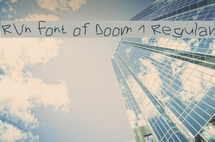 RVn Font of Doom 1 Regular Font examples