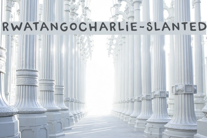 RWATangoCharlie-Slanted Шрифта examples