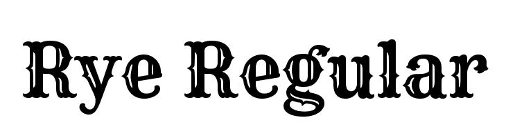 Rye Regular  नि: शुल्क फ़ॉन्ट्स डाउनलोड