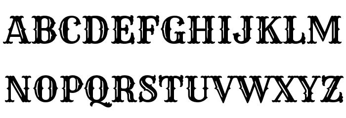 Rye Regular Font UPPERCASE