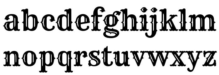Rye Regular Font LOWERCASE