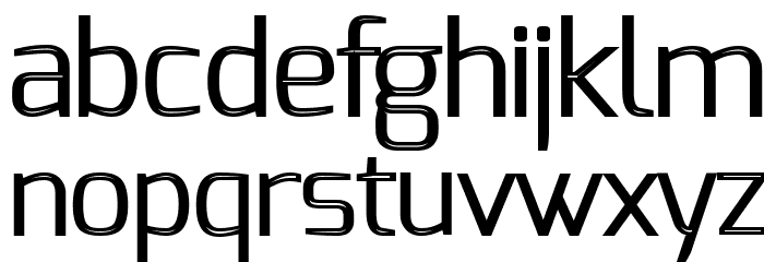 S-Phanith FONTER THIN Font LOWERCASE