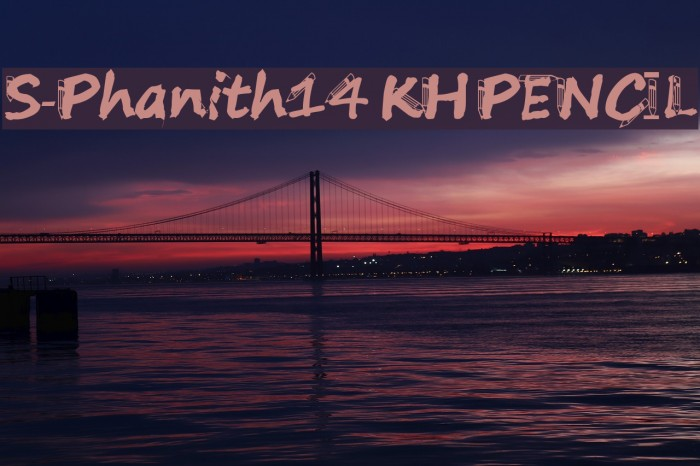 S-Phanith14 KH PENCIL Font examples