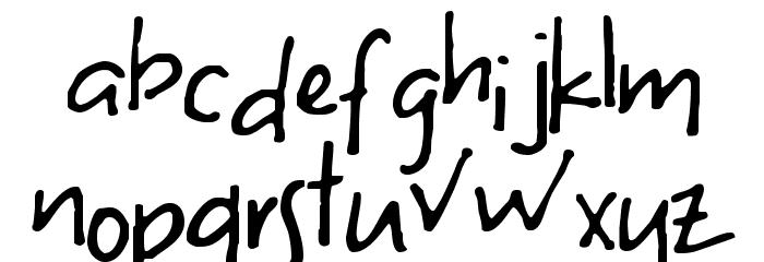 S Uneven Font LOWERCASE