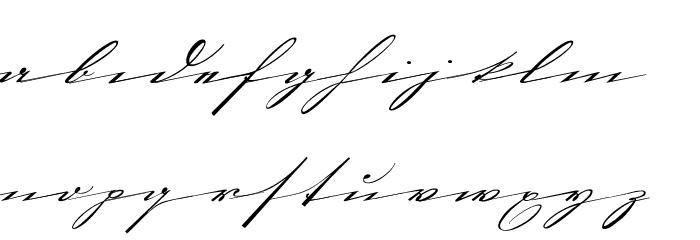 Sütalin Schriftart Kleinbuchstaben